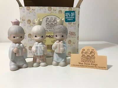 "Precious Moments Nativity 3 Kings ~ 213624 ~ w/ Box 1996  ""Wee three kings"""
