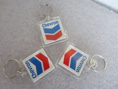 Lot of 3 Chevron gas and oil keychain