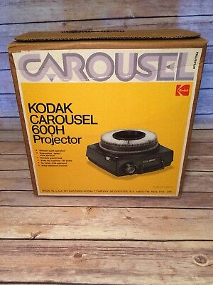 Kodak Carousel 600 H Projector Inbox Complete Working Condition Tested