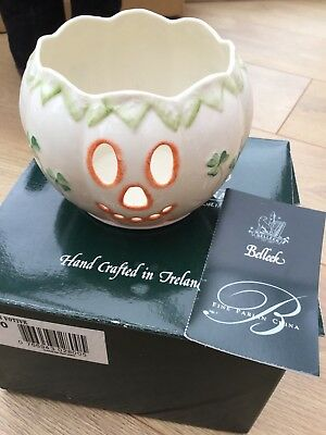 Belleek Pumpkin Votive Fine China Hand Crafted In Ireland Bnib