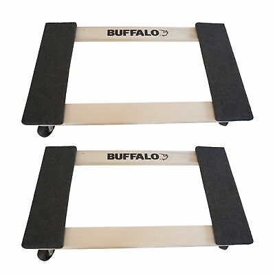 Buffalo Tools HDFDOLLY2 2 Piece 1000 Lb Furniture Dolly Set - Includes 2 Pieces