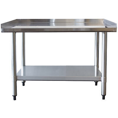 Sportsman Series Upturned Edge Stainless Steel Work Table 24 x 36 Inches