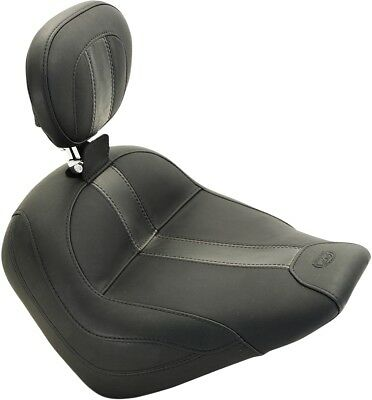 Mustang Vintage Solo Seats with Driver Backrest Black Vintage 79507