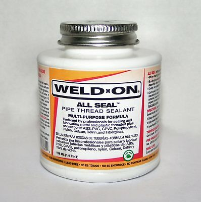 Pipe Thread Sealant   WELD-ON  87660   ALL SEAL  1/4 Pint