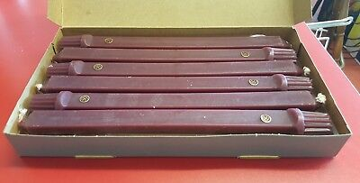 "NEW Partylite Square Tapers 10"" Candles  D4028 Mulberry In Box six (6)"