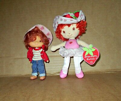 "Strawberry Shortcake Plush 7"" With Tags 2003 + Doll"