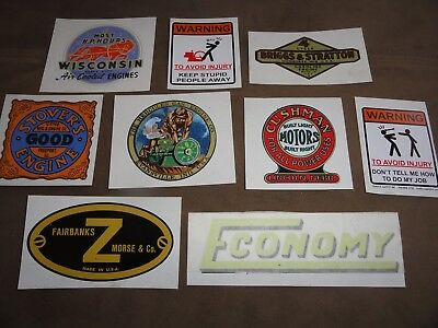 Hit And Miss Engines  Decal/ Stickers Lot