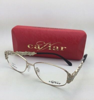 e89aa3f026 NEW CAVIAR UNIQUE Eyeglasses M 5604 C.21 55-14 Gold   Black Frames with  Crystals