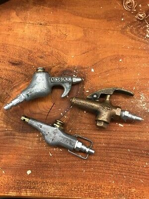 Vintage Brass Air Nozzle Lincoln ,jenkins  Lot Of 3