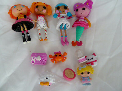 Mini Lalaloopsy Bundle Of 4 Mini Dolls With Pets And Some Accessories