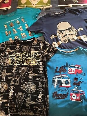 Bundle of 4 Boys T Shirts Tops M&S Fatface Star Wars Next Minecraft Age 12 - 13