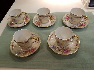 Theodore Havilan Limoges Tea Cups and Saucers