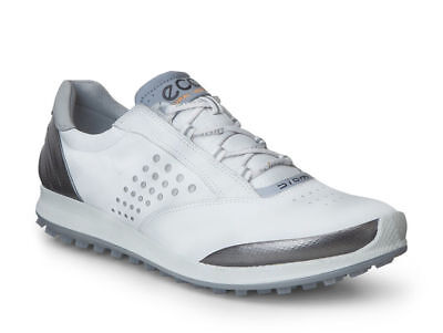 New ECCO BIOM HYBRID 2 Golf Shoe Womens White/Buffed Silver Choose a Size