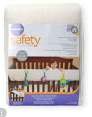 Babies R Us Safety Soft Cloth Front Crib Rail Cover - White