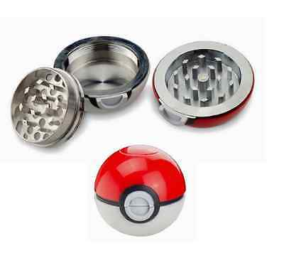 55mm Pokeball Pokemon Tobacco Herb Spice Grinder Aluminum