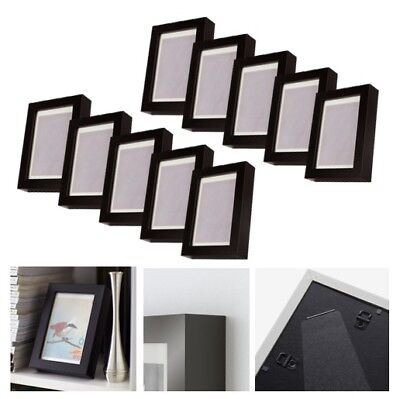 ikea glas bilderrahmen ribba rahmen mit passepartout 10x15cm weiss eur 7 95 picclick de. Black Bedroom Furniture Sets. Home Design Ideas