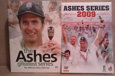 2 X BOXED SET OFASHES CRICKET DVD's.... price is for both boxed sets.