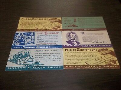 Vintage Lot Association Of American Railroads Ink Blotters Advertising Trains!
