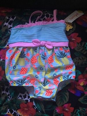 Cat And Jack Fruit Print Swimsuits 9-12 Months