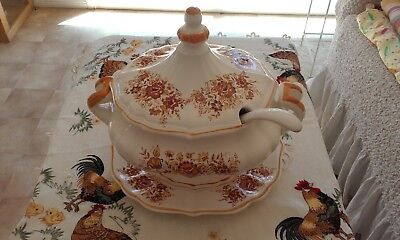 Vintage ceramic  Soup Tarine set made in Japan 1970s