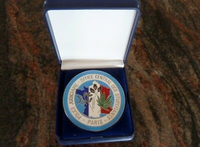 Medallion French Police collectable memorabilia French Drug Enforcement Agency