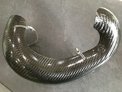 KTM Exc 250 300 protection de pot Carbone Exhaust Pipe Cover 2006/2010 neuf !!!
