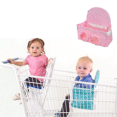 Buggy Bench Shopping Cart Seat in Posh Pink for Baby, Toddler, and Twins (Up To