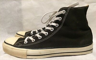 Vintage Converse 90's Made in USA Size 11 Unworn Black Canvas Shoes 1990s Chuck