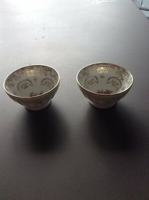 Pair of pretty French porcelein bowls
