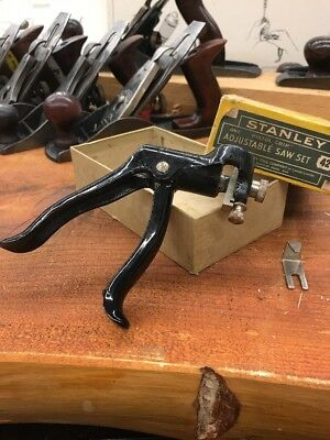 Stanley 42  Pistol Saw Set Nos With Original Box And Attachment