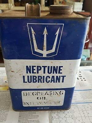 Old Neptune Lubricant Tin Australian One Gallon