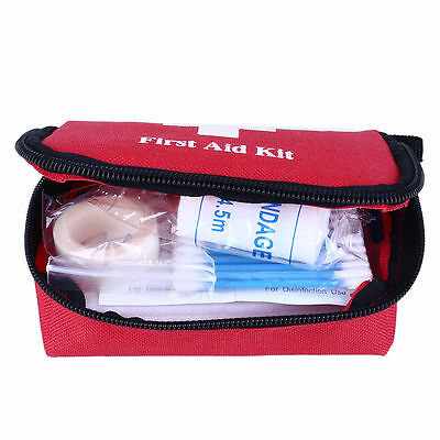 1X Portable Outdoor First Aid Kit Red Camping Emergency Survival Waterproof FE