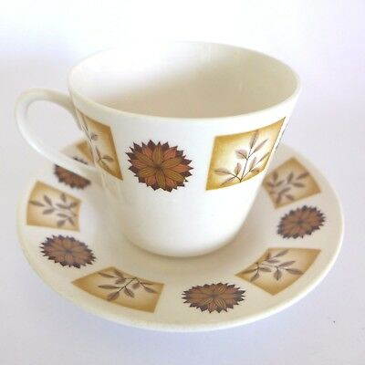 1950s Bone China RIDGWAY Royal Vale #8216 DUOS Cups Saucers Vintage mid century