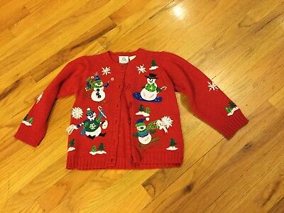 Girls Tiara boutique Christmas sweater size 5 red long sleeve