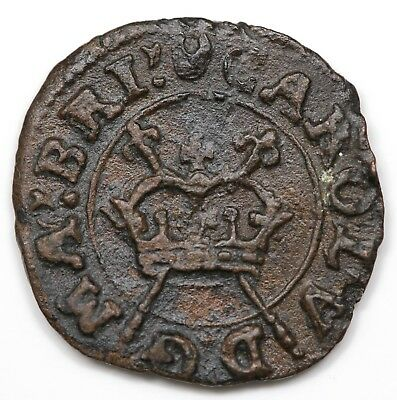 (c. 1640) Great Britain Farthing, Charles I, Crescent mintmark, XF-AU detail