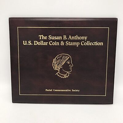 Susan B. Anthony U.S. Dollar Coin & Stamp Collection Book- 11 Coins & 2 Stamps