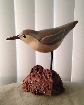 Big Sky Carvers Montana Hand Carved Wood Shorebird Decoy Glass Eyes