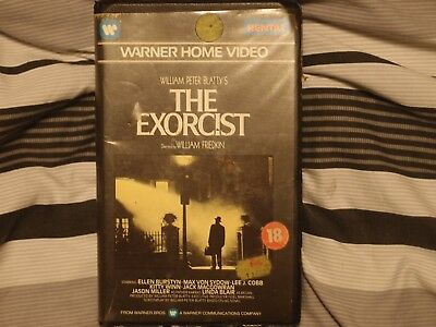 The Excorcist Original Pre Cert Ex Rental Video Cover Only