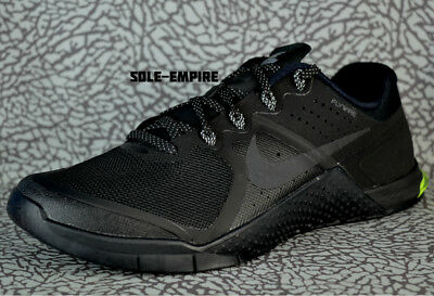 Nike Metcon 2 819899-007 Black Cool Grey Volt Mens Fitness Trainer Gym Shoe