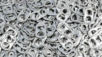 Lot 100,000 Soda Pop Tabs 60 POUNDS Silver Aluminum Mixed Crafting CokeRing Pull
