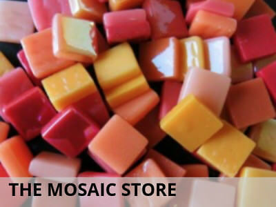 Flame Mixed 12mm Glass Tiles | Mosaic Tiles Supplies Art Craft