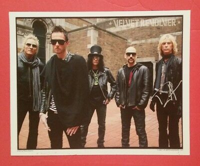 "Duff McKagan Signed In Person 8""X10"" Color Photo Velvet Revolver - Guns n Roses"