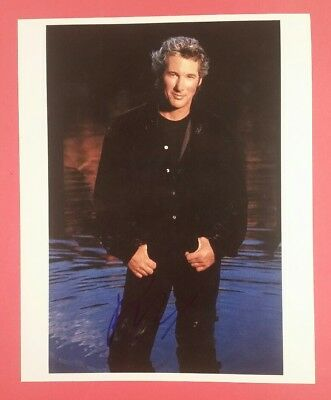 "Richard Gere Signed in Person 11"" X 14"" Color Photo"