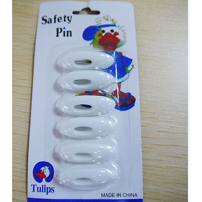 6 pcs Hijab Pin Set Fashion Plastic Safety Pin White Tulips Islamic Scarf  Pin