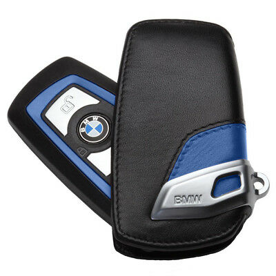 NEW Leather Genuine BMW Key Fob Holder Bag Cover Case Sport line 2 3 5SeriesX3
