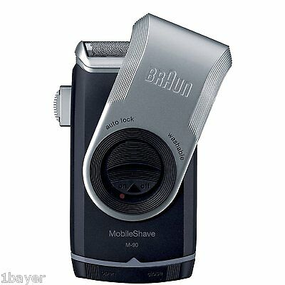 Braun Mobile Shave Travel Cordless Mens Grooming Electric Trimmer Shaver M90