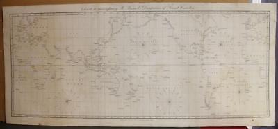 1852 Janet Taylor Large Antique Steel Engraved World Map Mercator's Projection