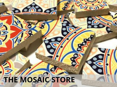 Handmade Patterned Ceramic Tiles Irregular Cut - Mosaic Tiles Supplies Art Craft