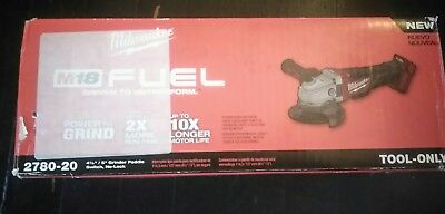 """M18 FUEL 4-1/2""""/5"""" Grinder Paddle Sw No-Lock (Tool Only) Milwaukee 2780-20 New"""
