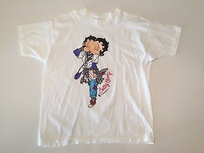 Vintage Betty Boop Sz L 1994 Hip Hop King Features Syndicate